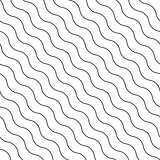 Seamless diagonal wavy vector pattern.