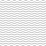 Wavy seamless striped pattern. Simple background.
