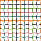 Wavy seamless striped pattern. Net texture.