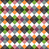 Colored rhombic geometric seamless pattern.
