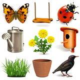 Vector Spring Season Icons