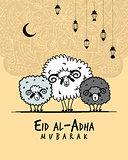 Muslim holiday Eid al-Adha, card for your design