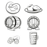 Some beer line icons