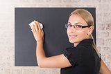 Beautiful young teacher portrait