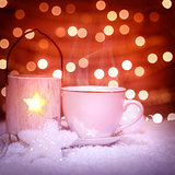 Hot chocolate in Christmas still life