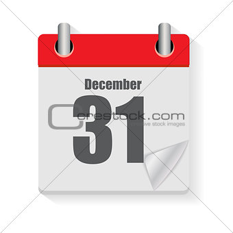 Calendar Flat Daily Icon. Vector Illustration Emblem. Element of