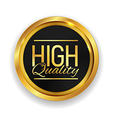 High Quality Golden Medal Icon Seal  Sign Isolated on White Back