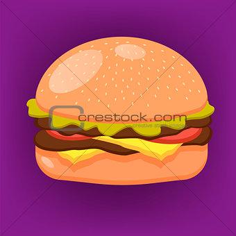 Beautiful vector image of burger