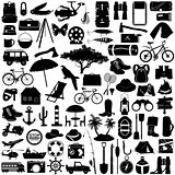 Vector Camping Pictogram