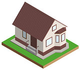 Private house mansion isometric projection