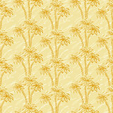 Seamless pattern, palm trees contours