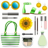 Vector Fashion Accessories Set 8