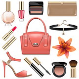 Vector Fashion Accessories Set 9