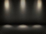 3D metallic interior with spotlights