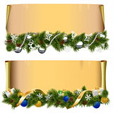 Vector Christmas Scroll Set 2