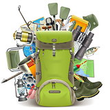 Vector Haversack with Fishing Tackle