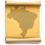 Vector Paper Scroll with Brazil