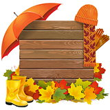 Vector Autumn Board