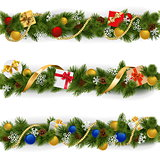 Vector Christmas Border Set 5
