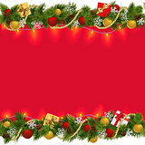 Vector Christmas Border with Garland 2