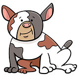 spotted bull dog cartoon animal character