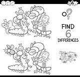 spot the difference with insects coloring book