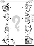 matching halves activity coloring page