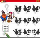 educational shadow game activity with pirates