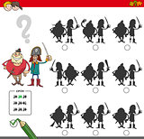 educational shadow game with pirates