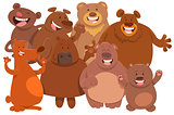 bears wild animal characters cartoon