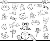 find one picture of a kind coloring page