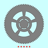 Car wheel it is icon .