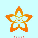 Flower it is icon .