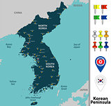 Map of Korean Peninsula
