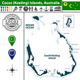Map of Cocos Islands, Australia
