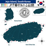 Map of Jeju Island, South Korea
