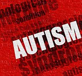 Healthcare concept: Autism on Red Brickwall .