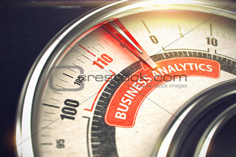 Business Analytics - Business Mode Concept. 3D.