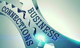 Business Connections - Mechanism of Metal Cog Gears. 3D.