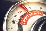 Profit Growth - Business or Marketing Mode Concept. 3D.