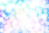 Vivid bokeh in soft color. Background with highlights. vector illustration