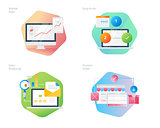 Material design icons set for business, management, marketing, e-commerce and shopping.