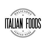 Italian Foods vintage stamp