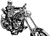 Skeleton Rider On Chopper