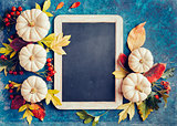 Autumn background with festive decoration