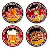 Oktoberfest vector set of drink coasters