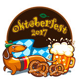 Oktoberfest celebration, vector banner series
