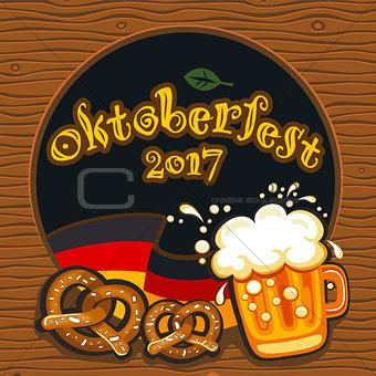 Oktoberfest celebration, vector banner series
