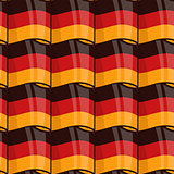 German flag seamless wrapping pattern