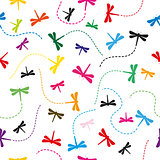 Dragonfly Pattern Seamless  background.